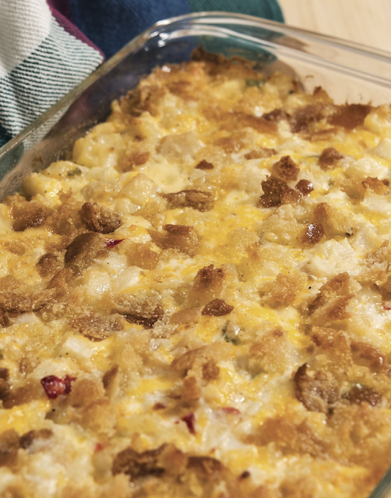 Hash Browns and Corn Flakes Casserole
