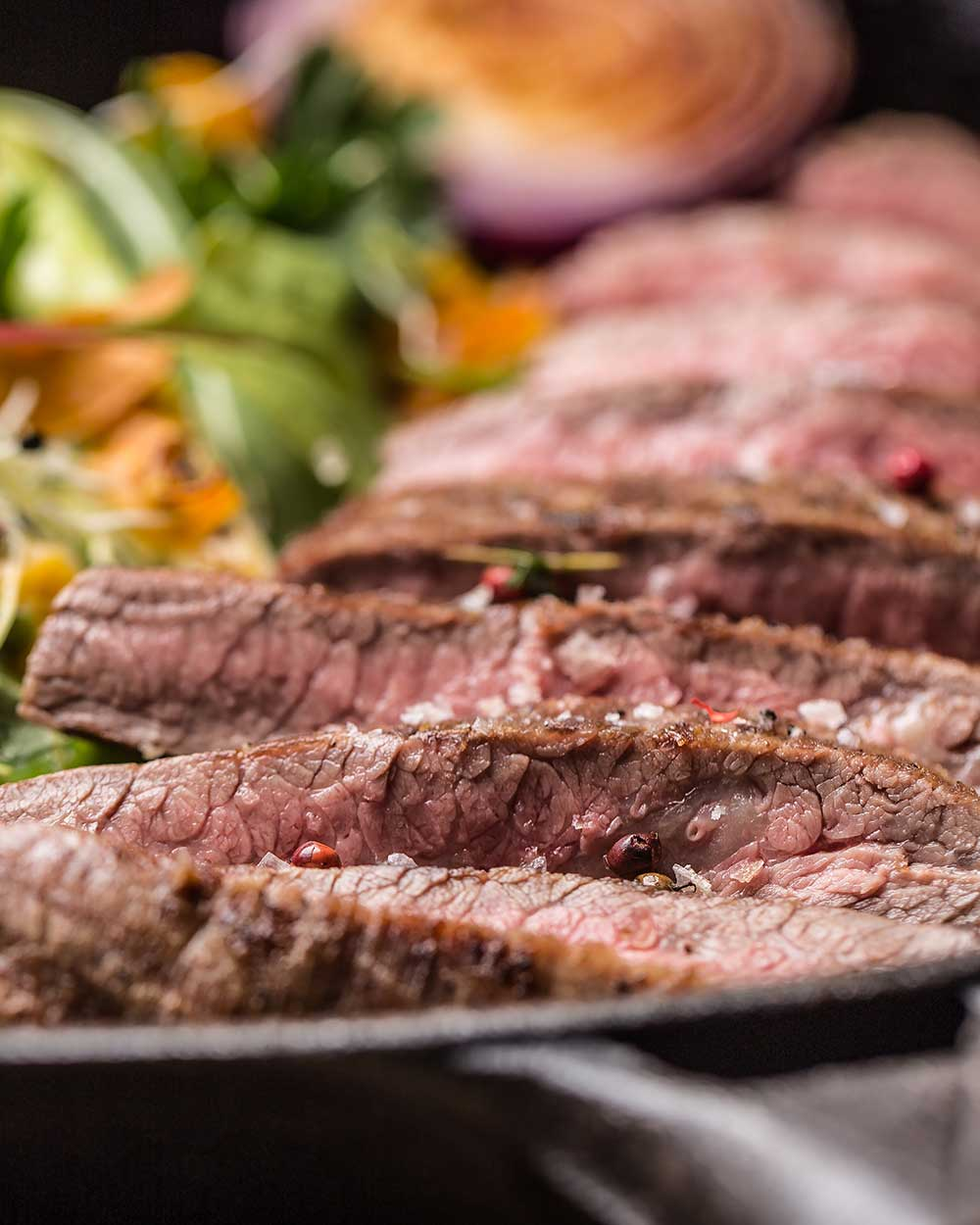 Ginger, Soy & Brown Sugar Marinated Flank Steak