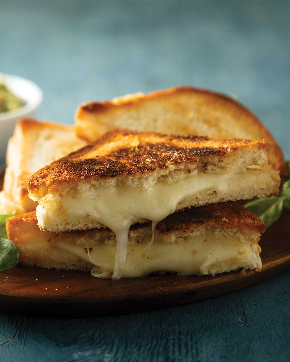 Crispy Bacon Guacamole Grilled Cheese