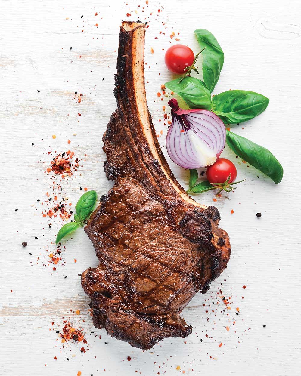 Pan Seared Tomahawk Steak