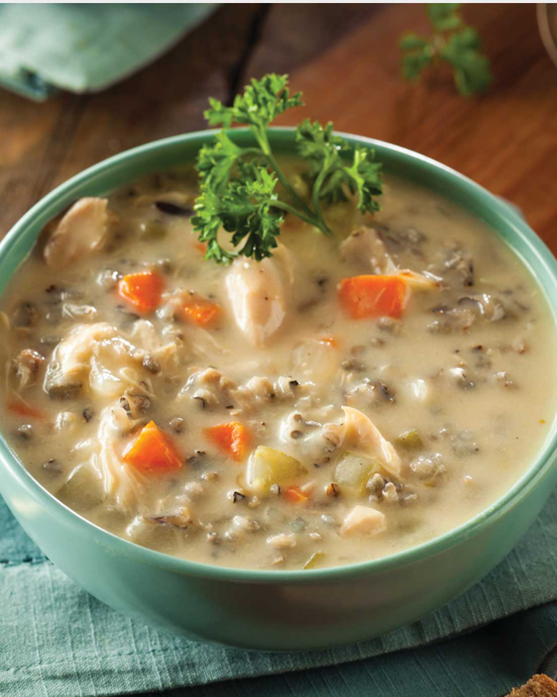 Slightly Spicy Wild Rice Soup