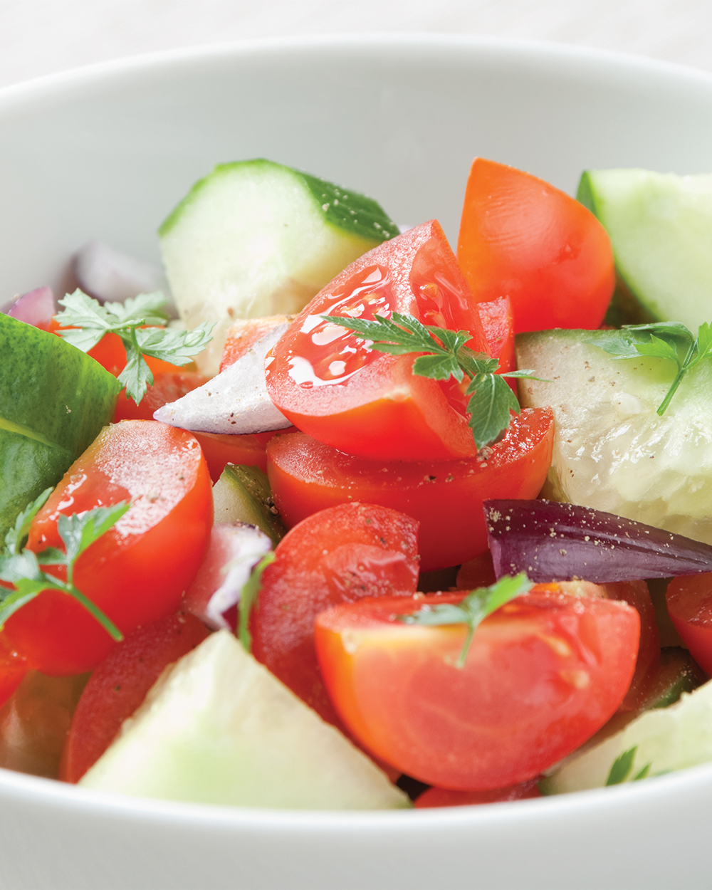 Avocado Cucumber Tomato Salad